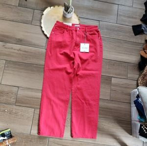 DL1961 red high waist ankle Jeans Denim 30 in